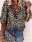 hesapli Gömlek-Kadın's Gömlek Leopar Sarı