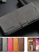 hesapli Cep Telefonu Kılıfları-Deri kapak standı manyetik cüzdan telefon kılıfı için samsung galaxy a90 a80 a60 a20e kapak kart tutucu