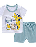 halpa Vauvojen Pojat yläosat-Vauva Poikien Perus Geometrinen Lyhythihainen T-paita Valkoinen