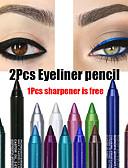 halpa Huulipunat-2kpl värikkäitä pigmenttejä kestävä vedenpitävä silmälasien kynä muoti silmämeikki kosmetiikka