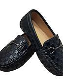 hesapli Takımlar-Genç Erkek Deri Düz Ayakkabılar Küçük Çocuklar (4-7ys) Rahat Siyah / Beyaz Yaz