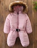 povoljno Vanjska odjeća za bebe-Dijete Djevojčice Osnovni Jednobojni Dug Pernata i pamučna podstava Blushing Pink