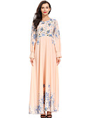 povoljno Print Dresses-Žene Boho Elegantno Swing kroj Haljina - Print, Cvjetni print Maxi