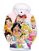 baratos Moletons Para Meninas-Infantil Bébé Para Meninas Básico Estampado Estampado Manga Longa Moleton & Blusa de Frio Arco-íris