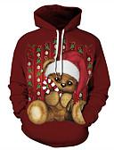זול טרנינגים וקפוצ'ונים לגברים-קולור בלוק / 3D / אנימציה קפוצ'ון חג ליל כל הקדושים / חג מולד בגדי ריקוד גברים
