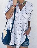 זול טישרט-מנוקד חולצה - בגדי ריקוד נשים לבן