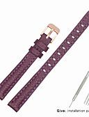 hesapli Deri Saat Bandı-Gerçek Deri / Deri / Buzağı Tüyü Watch Band kayış için Mor Diğer / 17cm / 6.69 inç / 19cm / 7.48 İnç 1cm / 0.39 İnç