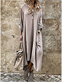 hesapli Kadın Kazakları-Kadın's Kılıf Elbise - Solid Asimetrik