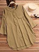 hesapli Gömlek-Kadın's Gömlek Kırk Yama, Solid Siyah