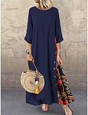 povoljno Maxi haljine-Žene Boho Swing kroj Haljina Color block Maxi