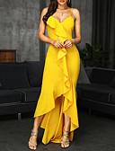 hesapli Maksi Elbiseler-Kadın's Bandaj Elbise - Solid Asimetrik