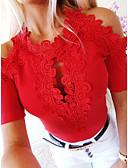 billige Bluser-T-skjorte Dame - Ensfarget, Blonde Grunnleggende Hvit