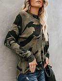 povoljno Bluza-Bluza Žene - Osnovni Dnevno Geometrijski oblici Print Vojska Green