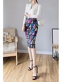 povoljno Majica-Žene Bodycon Suknje - Cvjetni print Crn S M L