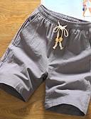 hesapli Erkek Pantolonları ve Şortları-Erkek Temel Chinos / Şortlar Pantolon - Solid Beyaz Siyah Gri US40 / UK40 / EU48 US42 / UK42 / EU50 US44 / UK44 / EU52