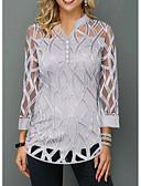 hesapli Tişört-Kadın's Bluz Solid Gri