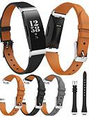 hesapli Smartwatch Bantları-Watch Band için Fitbit HR'ye İlham Ver / Fitbit ilham Fitbit Spor Bantları Gerçek Deri Bilek Askısı