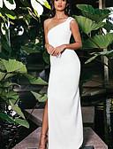 זול שמלות NYE-מקסי אחיד - שמלה נדן בגדי ריקוד נשים
