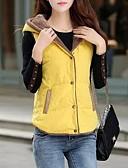 preiswerte Bluse-Damen Solide Standard Weste, Polyester Orange / Armeegrün / Gelb M / L / XL