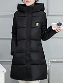 povoljno Women's Down Coats-Žene Jednobojni Jakna od perja, Poliester Crn / Dusty Rose / Blushing Pink M / L / XL
