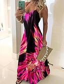 hesapli NYE Elbiseleri-Kadın's Kılıf Elbise - Geometrik Maksi