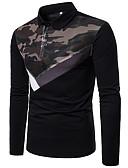 זול חולצות פולו לגברים-אחיד בסיסי Polo - בגדי ריקוד גברים שחור