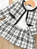 povoljno Jakne i kaputi za djevojčice-Dijete koje je tek prohodalo Djevojčice Aktivan Karirani uzorak Dugih rukava Komplet odjeće Crn