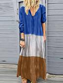 זול שמלות מודפסות-מקסי אחיד - שמלה סווינג בגדי ריקוד נשים