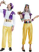 זול מארזי AirPods-Aladdin תחפושות קוספליי תלבושות נשף מסכות מבוגרים לזוג קוספליי חג ליל כל הקדושים האלווין (ליל כל הקדושים) פסטיבל / חג polyster סגול / צהוב לזוג תחפושות קרנבל