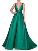 זול שמלות ערב-גזרת A צלילה שובל סוויפ \ בראש סאטן ערב רישמי שמלה עם על ידי LAN TING Express