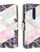 זול מגנים לטלפון-מגן עבור Xiaomi Xiaomi Redmi 6 Pro / Xiaomi Redmi Note 7 / Xiaomi Redmi Note 7 Pro ארנק / מחזיק כרטיסים / נפתח-נסגר כיסוי מלא תבנית גאומטרית עור PU
