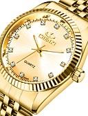 povoljno Haljine za NG-CHENXI® Muškarci Sat uz haljinu Kvarc Formalno Style Sa stilom Nehrđajući čelik Zlatna 30 m Vodootpornost Svijetli u mraku Analog Luksuz Moda - Zlatna Zlatni + crna Zlatni + bijela Jedna godina