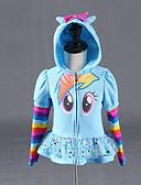 お買い得  女児ジャケット&コート-子供 女の子 活発的 ストライプ プリント プリント ショート スーツ&ブレザー ブルー