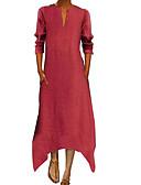 povoljno Maxi haljine-Žene A kroj Haljina Jednobojni Midi