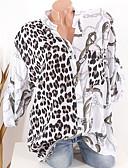 זול חולצה-נמר חולצה - בגדי ריקוד נשים שחור