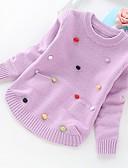 povoljno Džemperi i kardigani za djevojčice-Djeca Djevojčice Osnovni Jednobojni Dugih rukava Džemper i kardigan purpurna boja