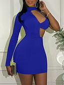 זול שמלות NYE-מיני אחיד - שמלה צינור נדן בסיסי בגדי ריקוד נשים