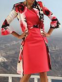 Недорогие Платья-Жен. Элегантный стиль Из двух частей Платье - Цветочный принт, Кружева Выше колена
