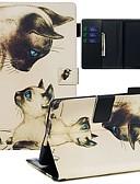 povoljno Drugi slučaj-Θήκη Za Amazon Kindle Paperwhite 2018 Novčanik / Utor za kartice / Uzorak Korice Mačka PU koža / TPU