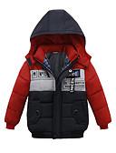 povoljno Vanjska odjeća za Za dječake bebe-Dijete Dječaci Aktivan / Osnovni Print / Color block Print Kratak Pernata i pamučna podstava Plava