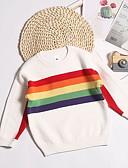 お買い得  赤ちゃん セーター&カーディガン-赤ちゃん 女の子 ベーシック ストライプ 長袖 セーター&カーデガン ホワイト