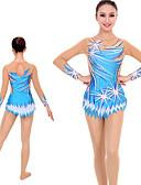 povoljno Teretana-Triko za ritmičku gimnastiku Trikoi za ritmičku gimnastiku Žene Djevojčice Triko za vježbanje Sky blue Visoka elastičnost Ručno izrađen Izgled dijamanta Sjenčanje Dugih rukava Natjecanje Ritmička