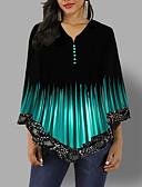 povoljno Bluza-Bluza Žene - Osnovni Dnevno Color block Crn