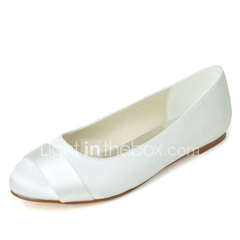 Women\'s Shoes Satin Spring Summer Ballerina Wedding Shoes Flat Heel ...
