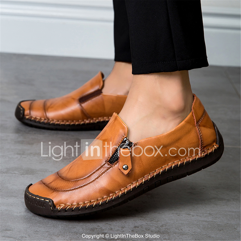 Otoño Bajo Cuero Taco Primavera Zapatos amp; Hombre Confort De gFwx8pqnXT