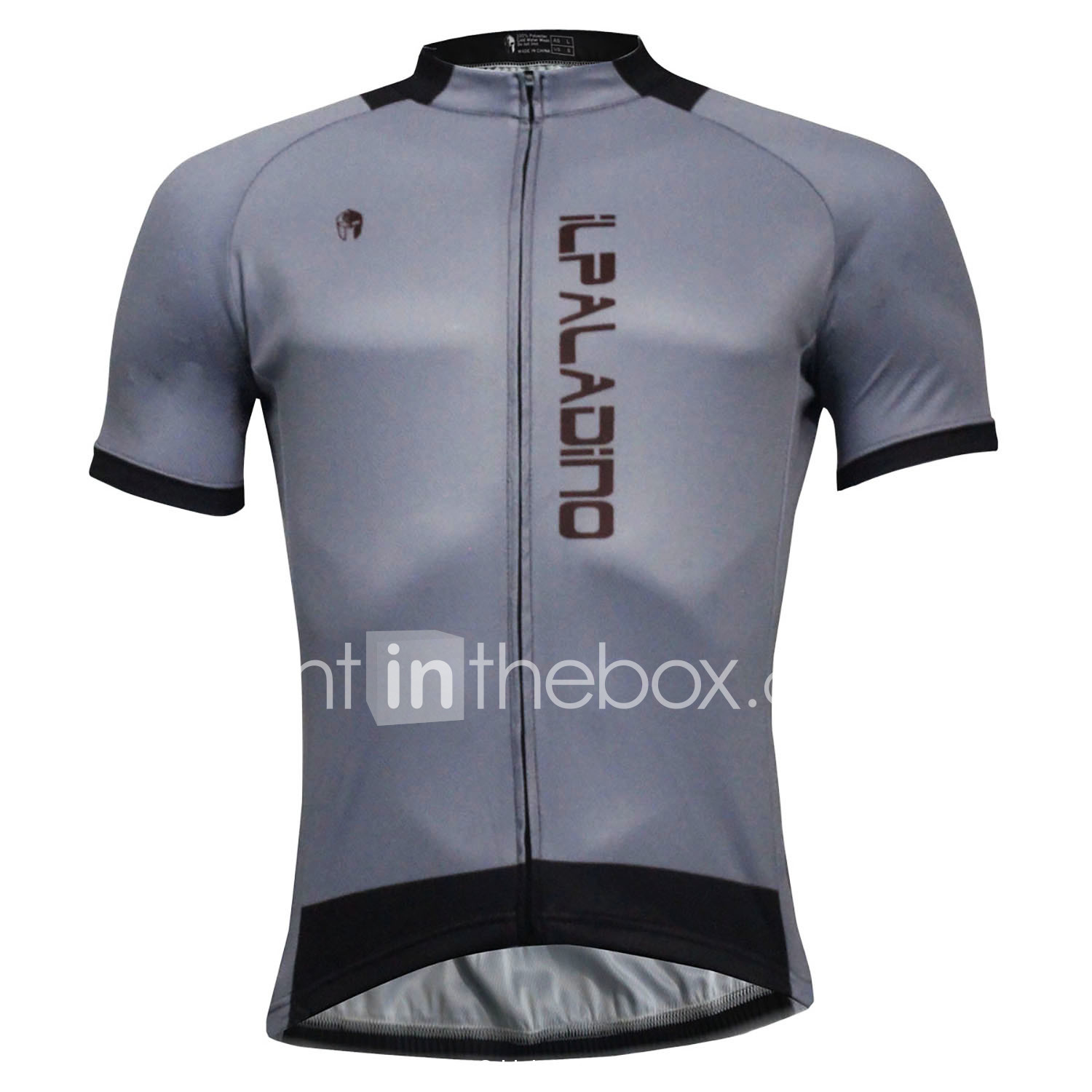 ILPALADINO Men s Short Sleeve Cycling Jersey - Gray Solid Color Bike Jersey  Top Quick Dry Sports Polyester Coolmax® Eco-friendly Polyester Mountain Bike  MTB ... e5c06c400