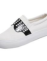 abordables Zapatillas sin Cordones y Mocasines de Mujer-Mujer PU Primavera  Casual Zapatos de taco cc104b52199a3