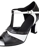b85088c537c Χαμηλού Κόστους Παπούτσια Χορού-Γυναικεία Παπούτσια χορού λάτιν Φο Δέρμα  Τακούνια Κόψιμο Πυκνό τακούνι Εξατομικευμένο