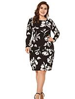 5d5d3b1d667 Недорогие Платья-Жен. Элегантный стиль Оболочка Платье - Цветочный принт До  колена