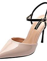 90aba0a9c8 olcso Női cipők-Női PU Tavasz minimalizmus Magassarkúak Tűsarok Erősített  lábujj Fekete / Mandula /